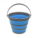 Afbeelding van ProPlus opvouwbare emmer siliconen/kunststof 10 liter blauw