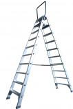 Afbeelding van ASC dubbele trap 10 treeds ladder