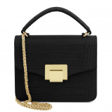 Imagine din Croc print mini bag Black