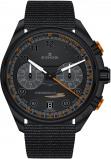 Afbeelding van Edox 09503 37NNONAN NNO herenhorloge zwart edelstaal PVD