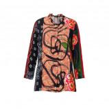 Afbeelding van Desigual blouse met all over print zwart multi