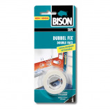 Afbeelding van Bison Tape Dubbel Fix Verwijderbaar Wit 19 mm 1.5 Meter