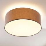 Afbeelding van 3 traps dimbare LED plafondlamp Dora in grijs, Lampenwelt.com, voor woon / eetkamer, stof, polycarbonaat, metaal, 12 W, energie efficiëntie: A+, H: 22.5 cm