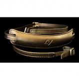 Afbeelding van 4V Design Lusso Medium Neck Strap Tuscany Leer Black/Black