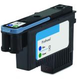 Bilde av HP 70 skriverhode blå + grønn Erstatter HP C9408A