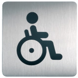 Afbeelding van infobord pictogram durable 4959 vierkant wc inval 150mm