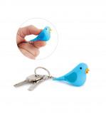 Afbeelding van Balvi sleutelhanger vogel met licht en geluid Tweet Blauw