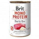 Afbeelding van Brit Mono Protein Beef & Rice Hond 6x400gr Hondenvoer Natvoer