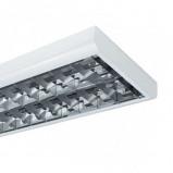 Afbeelding van EGG heel dunne raster opbouwv. T8 BAP 58 W 2 lichtbr., voor werkkamer / kantoor, plaatstaal, aluminium, G13, W, energie efficiëntie: A++, L: 156 cm, B: 26.6 H: 6.5 cm