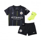 Abbildung von 2018/19 Manchester City FC Stadium Away Baby and Toddler Football Kit Blue