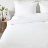 Afbeelding van Dekbedovertrek Uni Katoen Wit Emotion Effen/Hotellinnen Lits Jumeaux (240x220 cm) Ga naar Dekbed Discounter.nl