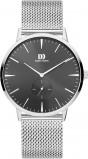 Afbeelding van Danish Design IQ63Q1250 herenhorloge zwart edelstaal PVD grijs