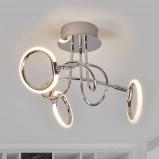 Afbeelding van 3 lichts led plafondlamp Jana, Lampenwelt.com, voor woon / eetkamer, metaal, kunststof, W, energie efficiëntie: A+, H: 25.5 cm