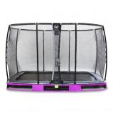 Bilde av EXIT Elegant bakketrampoline 244x427cm med Deluxe sikkerhetsnett fiolett