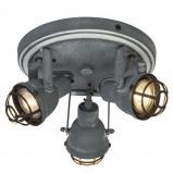 Afbeelding van Brilliant 3 lichtbr. LED plafondlamp Bente, voor woon / eetkamer, metaal, GU10, 4 W, energie efficiëntie: A+, H: 13.5 cm