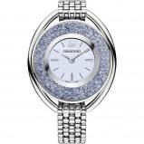 Afbeelding van Swarovski 5263904 Blue Crystalline Oval horloge dameshorloge Zilverkleur