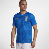 Abbildung von 2018 Brazil CBF Stadium Away Men's Football Shirt Blue