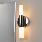 Afbeelding van 2 lamps LED wandlamp Benaja, Lampenwelt.com, voor badkamer, glas, metaal, 5 W, energie efficiëntie: A+, B: 13 cm, H: 36 cm