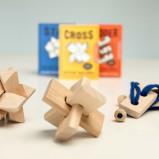 Afbeelding van Houten mini puzzel (assorti) van Kikkerland