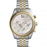 Afbeelding van Michael Kors MK8344 Lexington Chrono horloge dameshorloge Goudkleurig,Zilverkleurig