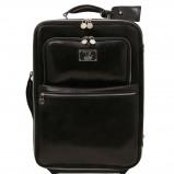 Bilde av 2 Wheels vertical Leather trolley Black