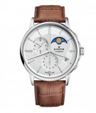 Afbeelding van Edox 01651 3 AIN herenhorloge zilver edelstaal