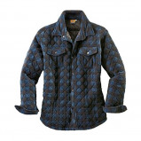 Afbeelding van Canadianline Overhemd Thermo Blauw/Zwart Maat 2XL