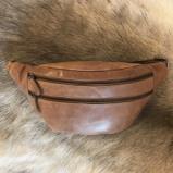 Billede af Bæltetaske brun læder