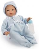 Billede af ASI Koke babydreng 36 cm Med varm heldragt og sutteflaske