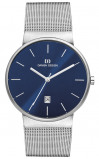 Afbeelding van Danish Design IQ68Q971 herenhorloge blauw edelstaal