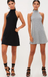 Imagine din 2 Pack Jersey High Neck Swing Dress