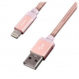 Afbeelding van EnerGea AluBlaze LED Lightning USB kabel 1.2m Rose Goud
