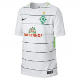 Image of 2017/18 Werder Bremen Stadium Away Older Kids' Football Shirt White