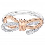 Afbeelding van Swarovski 5440641 Ring Lifelong Medium Bow zilver en rosekleurig Maat 55