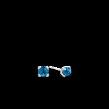 Abbildung von TI SENTO Milano Ohrring Rhodiniertem Sterlingsilber Blau Damen 7768DB