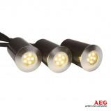 Afbeelding van AEG albedo LED grondspot inbouwlamp set van 3, aluminium, kunststof, 1.2 W, energie efficiëntie: A+