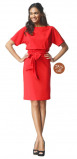 Image of LaDress Aretha jersey lycra dress red