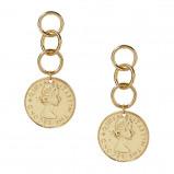 Afbeelding van Ettika Goudkleurige Coin Stopper Oorbellen E511.G