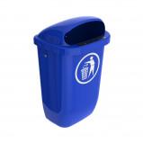 Afbeelding van Afvalbak DIN PK 50 ltr blauw