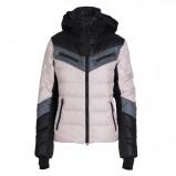 Afbeelding van Bogner Farina Down Winterjas Dames Light Pink Black Grey 42 Elastaan,Polyamide
