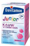 Afbeelding van Davitamon Junior 3+ Kauwvitamines Framboos 120 kauwtabletten