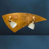 Afbeelding van Busch aparte plafondlamp ELEGANCE 2 lichts, voor woon / eetkamer, metaal, bladgoud, glas, G9, 40 W, energie efficiëntie: A++, L: 42 cm, B: 26 cm