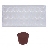 Afbeelding van Bonbonvorm Chocolate World Cuvet Rond (24x) 28,2x20,8 mm