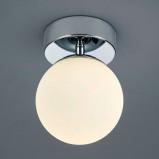 Afbeelding van Helestra helestra Keto LED badkamer plafondlamp, bol, voor badkamer, metaal, opaalglas, 6 W, energie efficiëntie: A+, H: 16 cm