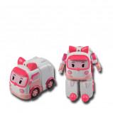 Afbeelding van Silverlit Transformerend speelgoed Robocar Poli Amber roze SL83172