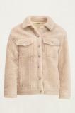 Afbeelding van Beige teddy jas, coat