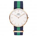 Afbeelding van Daniel Wellington Horloge Classic Warwick rosé blauw groen 40 mm DW00100005