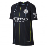 Abbildung von 2018/19 Manchester City FC Stadium Away Older Kids' Football Shirt Blue