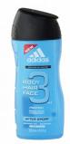Afbeelding van Adidas Showergel man after sport hair&body 250 ml