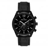 Afbeelding van Mats Meier Grand Cornier chronograaf heren horloge mat zwart